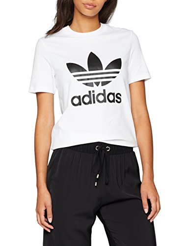 t-shirt adidas blanc et noir femme